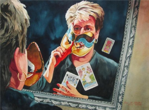 Unmasking a Self Portrait by Susan Stuller